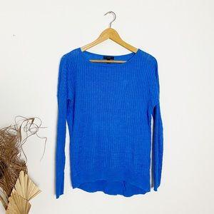 J. Crew | Blue Cable Knit Crewneck Sweater | M